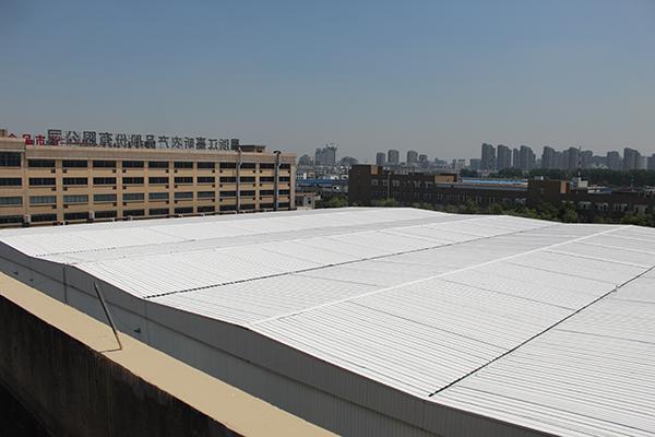 廠房彩鋼瓦屋面噴涂除銹翻新效果圖